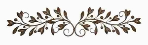 Metal Wall Decor Designed with Fine Detailing in Bronze Finish Brand Woodland