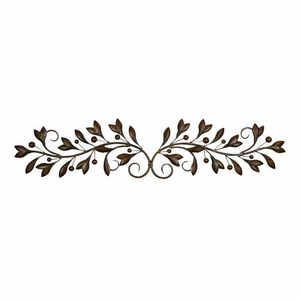 Benzara Metal Wall Decor Designed with Fine Detailing in Reddish Bronze Finish