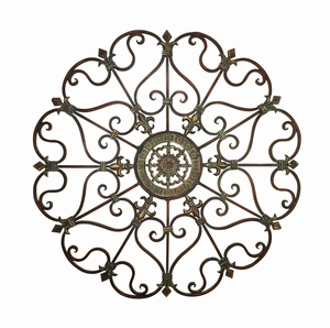 Metal Wall Decor in Circular Shape with Intricate Detailing Brand Woodland