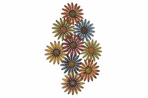 Metal Wall Decor in Multi Color with Beautiful Floral Design Brand Woodland