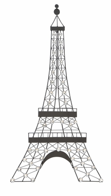 Metal Wall Decor _ Wall Art Features Eiffel Tower Design Brand Woodland