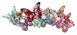 Metal Wall Decor with Butterfly Design & Intricate Detailing Brand Woodland