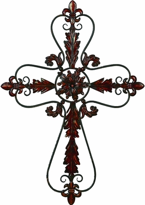 Metal Wall Hanging with Exquisite Detailing in Reddish Finish Brand Woodland