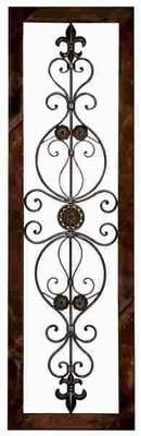 Metal Wall Plaque in Brown Finish with Abstract Design Brand Woodland