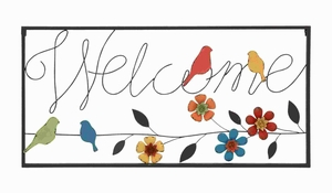Metal Wall Sign with Modern or Casual Style and Simple Frame Brand Woodland