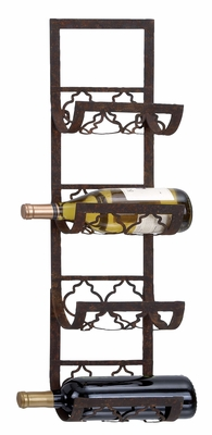 Metal Wall Wine Rack A Personal Bar Accent To Save Space Brand Woodland