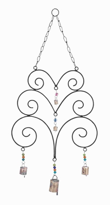 Metal Wind Chime with Great Eclectic Design with Abstract Design Brand Woodland