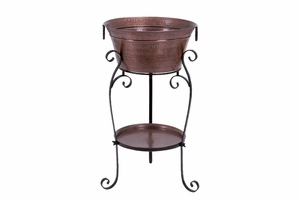 Metal Wine Cooler Stand, 35 Inch Height, 20 Inch Width Brand Woodland