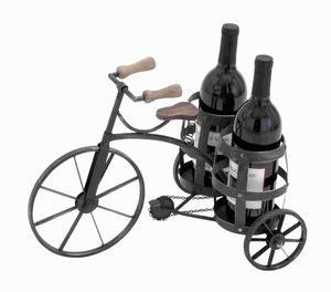 Metal Wine Holder in Black with Sturdy and Durable Construction Brand Woodland