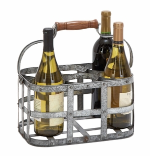 Metal Wine Holder Rack A Party Time Vintage Inspire Decor Brand Woodland