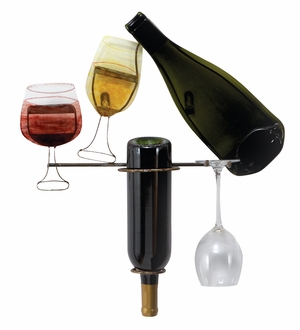 Metal Wine Holder with Unique Design and Vintage Appearance Brand Woodland
