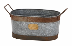 Metal Wine Ice Bucket Party Tub Planter To Chill Soft Drinks And Beer Brand Woodland