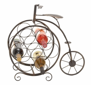 Metal Wine Rack, Tricycle Wine Rack for 7 Bottles, 19 Inch Ht, 21 Inch W Brand Woodland