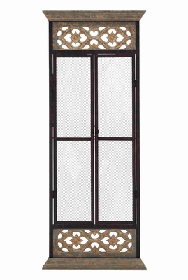 Metal  Wire with Classy Wooden Frame Elegant Wall D�cor Panel Brand Benzara