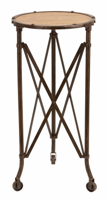 Metal Wood Accent Table  Accent Collection - 51867 by Benzara