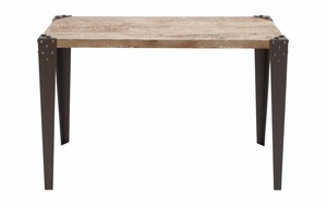 Metal Wood Console Table . - 51866 by Benzara