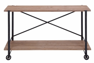 Metal Wood Console Table Made Tough For Diversified Applications Brand Woodland