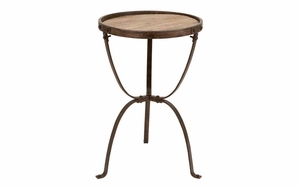 Metal Wood Side Table Accent Collection - 51860 by Benzara