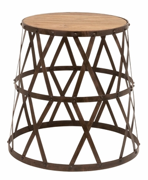 Metal Wood Stool Anytime Purposeful Industrial Furniture Addition Brand Woodland
