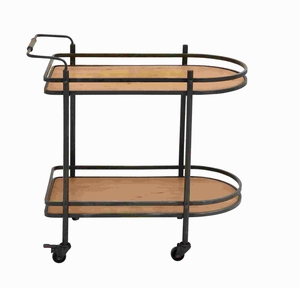 Metal Wood Tea Cart with Versatile and Functional Design Brand Woodland