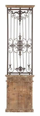 Metal Wood Wall Gate Antique Finished Wall Décor 71 H x 20 Inch Wide Brand Woodland