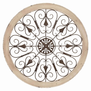 Metal Wood Wall Panel Beautifully Sculptured In Shape Of Circular Frame Brand Woodland