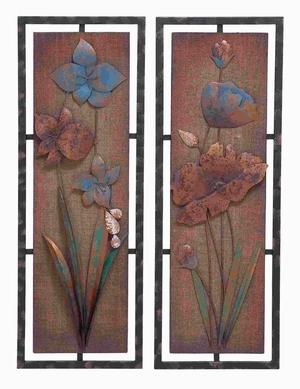 Metal Wooden Wall Panel with Distinctive Design 2 Assorted Brand Woodland