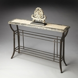 "Metalworks Console Table 48""W 12""D 32""H by Butler Specialty"