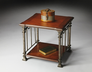 """Metalworks End Table 27""""W by Butler Specialty"""