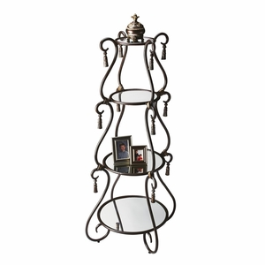"Metalworks Etagere 27""Diam. by Butler Specialty"