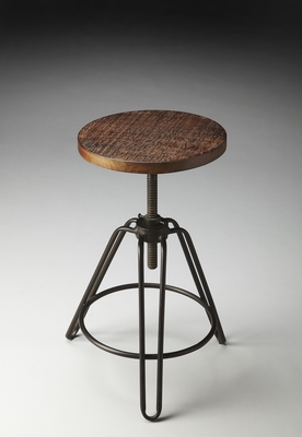 """Metalworks Revolving Bar Stool 15.75""""D by Butler Specialty"""