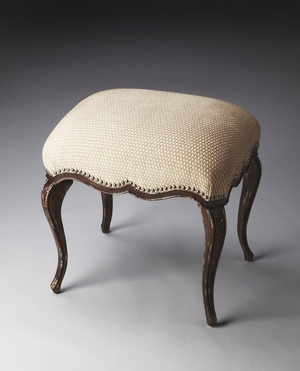 """Michelline Tobacco Leaf Vanity Stool 22""""W by Butler Specialty"""