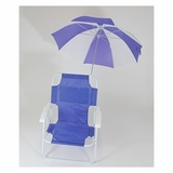 Mid Sized Beach Chair with Umbrella in by Redmon