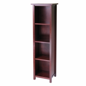Milan 5 Tier Tall Storage Shelf by Winsome Woods