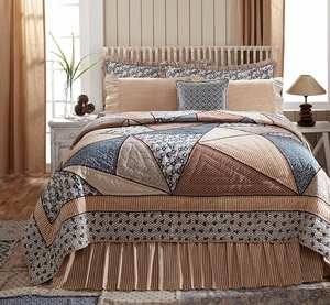 "Millie Luxury Sham Ruffled Quilted 21"" x 37"" by VHC Brands"