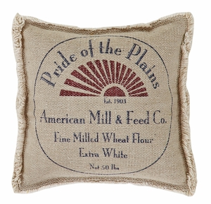 "Millie Pillow Pride of the Plains 10"" x 10"" by VHC Brands"