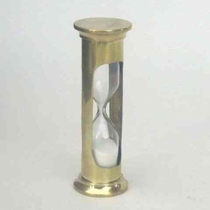 Miniature Hourglass - One Minute Decorative Sand Timer Decor In Brass
