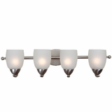 Mirror Lake Chic and Modern 4 Lights Vanity Light in Brushed Nickel by Yosemite Home Decor