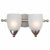 Mirror Lake Cute Looking 2 Vanity Lights in Brush Nickel by Yosemite Home Decor