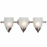 Mirror Lake Extraordinary Piece of 3 Light Vanity Light in Brush Nickel by Yosemite Home Decor