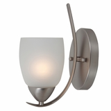 Mirror Lake Royal Styled 1 Light Wall sconce in Brush Nickel by Yosemite Home Decor