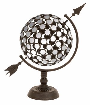 Mirror Sphere - Eye-Catching Metal Armillary Mirrored Sphere Brand Woodland