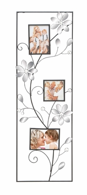 Mirror Wall Photo Frame - Creative Wall Frame With Blooming Mirrors Brand Woodland