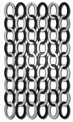 Mirrored Links Wall Mirror with Mirrored Black Glass Links Brand Uttermost