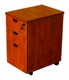 Mobile Pedestal Box/Box/File,Honey Comb Packing, Cherry by Boss Chair