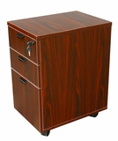 Mobile Pedestal Box/Box/File,Honey Comb Packing, Mahogany by Boss Chair