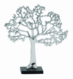 "Modern Aluminum Tree D�cor in Silver Finish 16"" Height Brand Woodland"