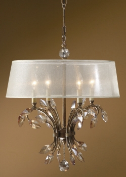 Modern And Urban Style Chandelier With Unique Lamp Shade Brand Uttermost