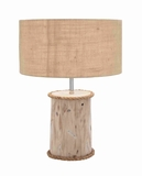 "Modern Interiors Decorative Wooden Mahogany 24"" Log Lamp Brand Woodland"