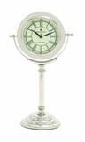 Modern Ivory Dali Metal Table Clock by Woodland Import